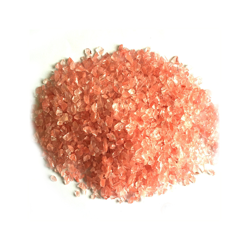 crushed colored glass chips