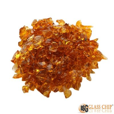 colored recycled glass chips