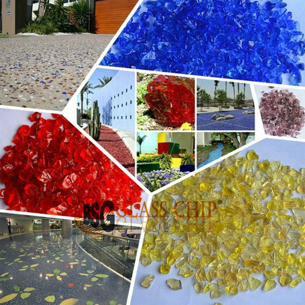 crushed colored glass