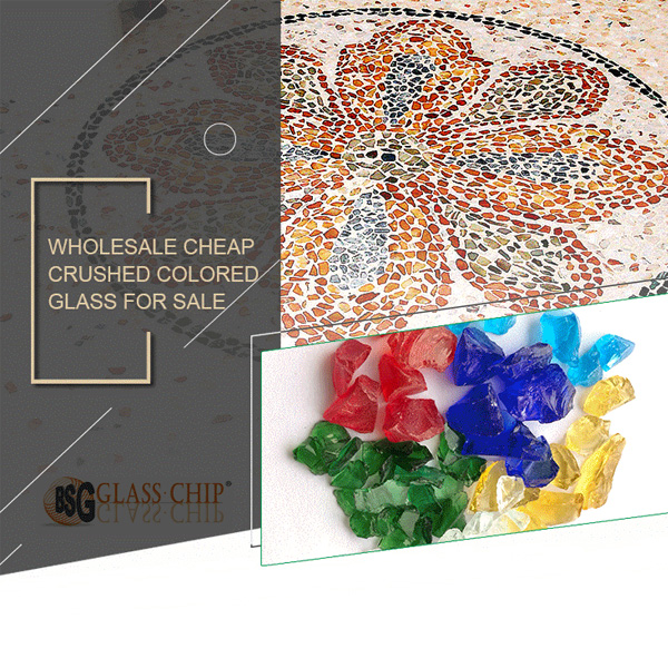 colored glass chips
